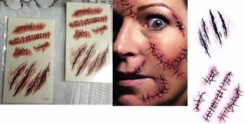 tatuajes zombie cicatrices heridas - halloween
