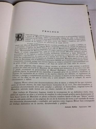 tauromaquia de manolete, 1917-1947-1987-1991, paco laguna
