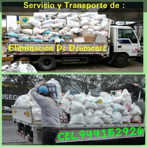 taxi carga - mudanzas // eliminación de desmonte sotanos lim