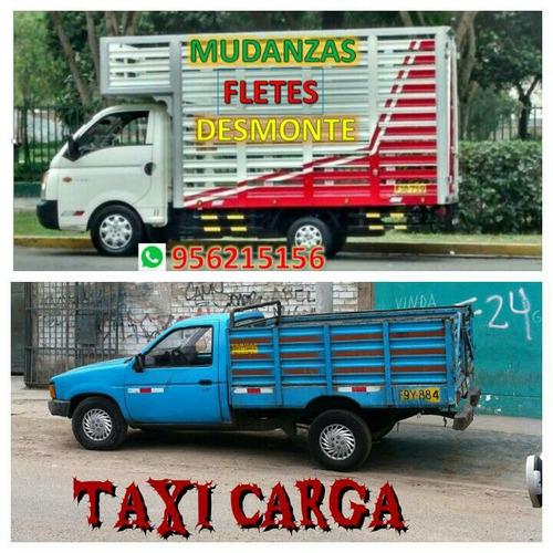 taxi carga mudanzas, fletes, retiro de desmonte, económico