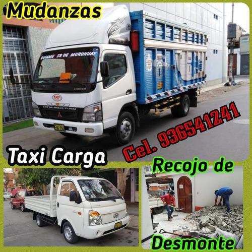 taxi carga // mudanzas y eliminación desmonte cel. 936541241