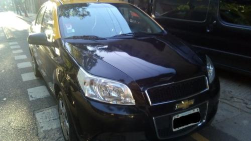 taxi chevrolet aveo g3 1.6 + gnc + lic. 2013/142000 km