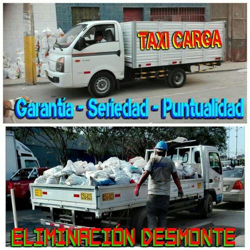 taxi de carga: eliminación de desmontes. mudanzas