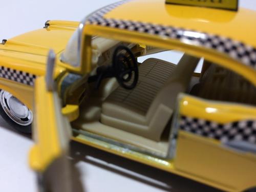 taxi kinsmar miniatura 1/40 chevrolet bel air 1957 promoção