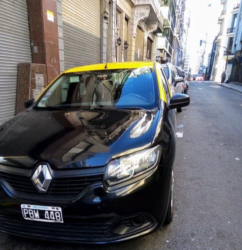 taxi logan 2015 con licencia, gnc y reloj. (única mano)