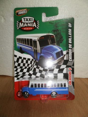taxi mania camion de ballena df azul 1:64