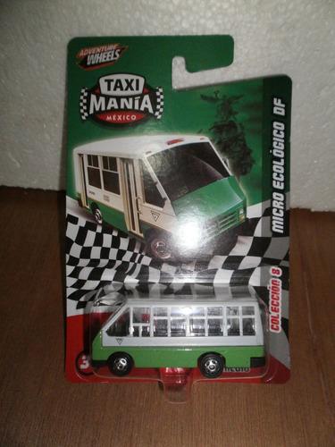 taxi mania taxi micro ecologico df verde 1:64