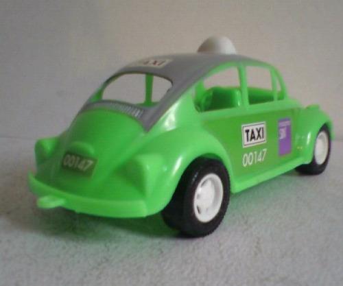 taxi vw beetle volkswagen - automovil de juguete antiguo