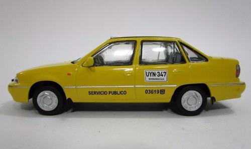 taxis daewoo + hyundai atos + chevrolet chevette escala 1/43