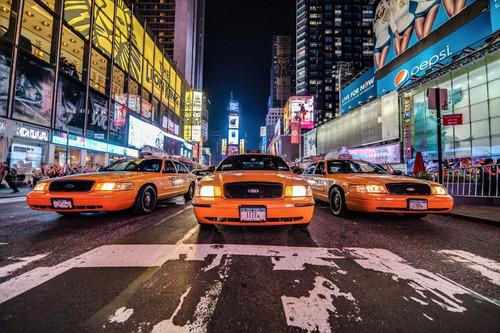 taxis new york bastidores en lienzo 150x100 hermosos