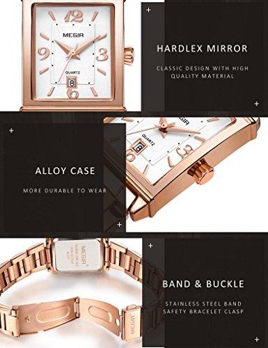faeaefc243851 Tayhot Womens Rectangle Rose Gold Watchlady Reloj De Acero I