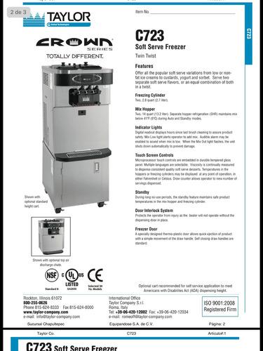 taylor maquina para helado suave
