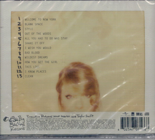 taylor swift - 1989 standard edition mex