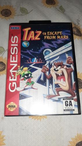 taz in escape from mars mega drive original completo