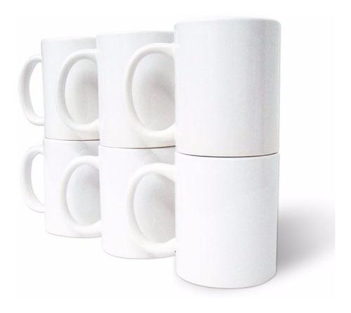 taza 11oz tlp sublimacion sublimar blanca 144 piezas + 4 pqts papel premium