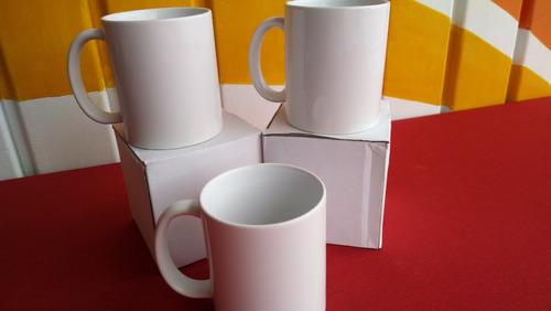 taza blanca de 11 oz para sublimar calidad aa