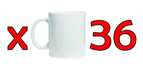 taza blanca mate tlp 11oz para sublimar terminado mate 36piezas full
