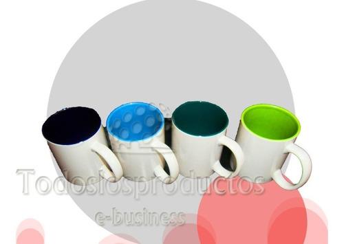 taza blanca para sublimar 11oz tlp color interno sublimacion 36 piezas