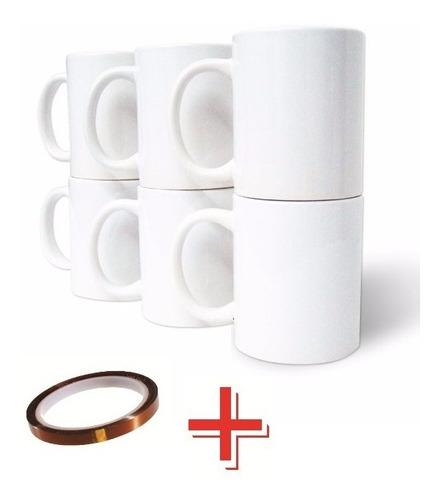 taza blanca tlp 11oz sublimacion 36pzs + cinta térmica sublimar f