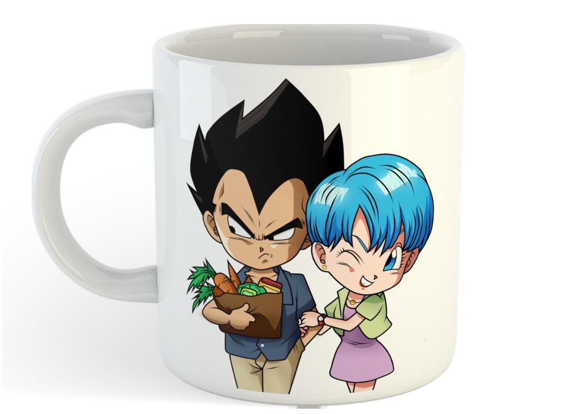 Taza Bulma Y Vegeta Dragon Ball San Valentin Amor Love Cute 250