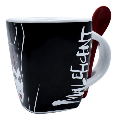 taza cafe cuchara disney maleficent malefica ceramica 440ml