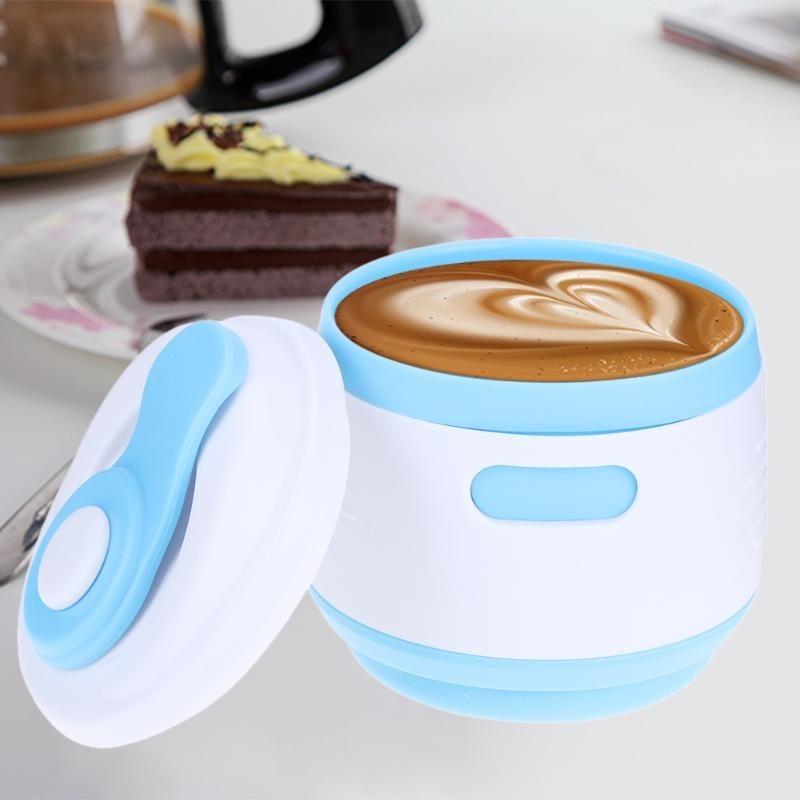 taza de caf/é de doble pared taza de viaje para caf/é respetuosa con el medio ambiente MOMSIV Taza de caf/é t/é y bebidas fr/ías reutilizable al vac/ío a prueba de fugas aislante de acero inoxidable