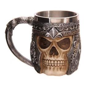 Taza Calavera Multi Skull & Spine Goblet 3d Tazon Mug