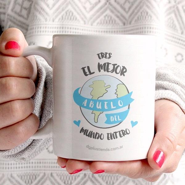 Taza Ceramica Blanca Con Frase Para Abuelo 20000 En Mercado Libre