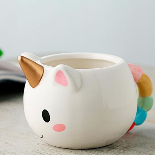 taza ceramica en forma de unicornio 3d h1307