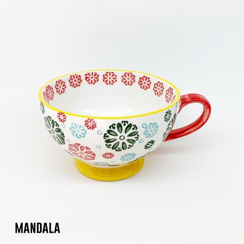 taza cerámica pintada a mano varios diseños