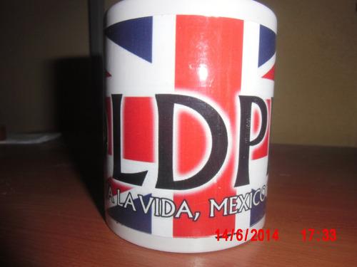 taza coldplay - viva la vida tour 2010, monterrey mexico