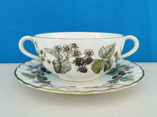 taza consome de porcelana inglesa royal worcester lavinia
