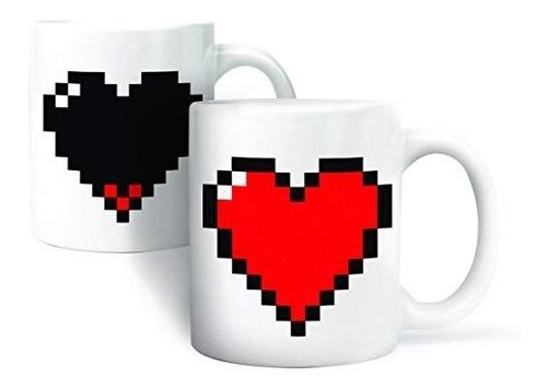 taza corazón pixelado