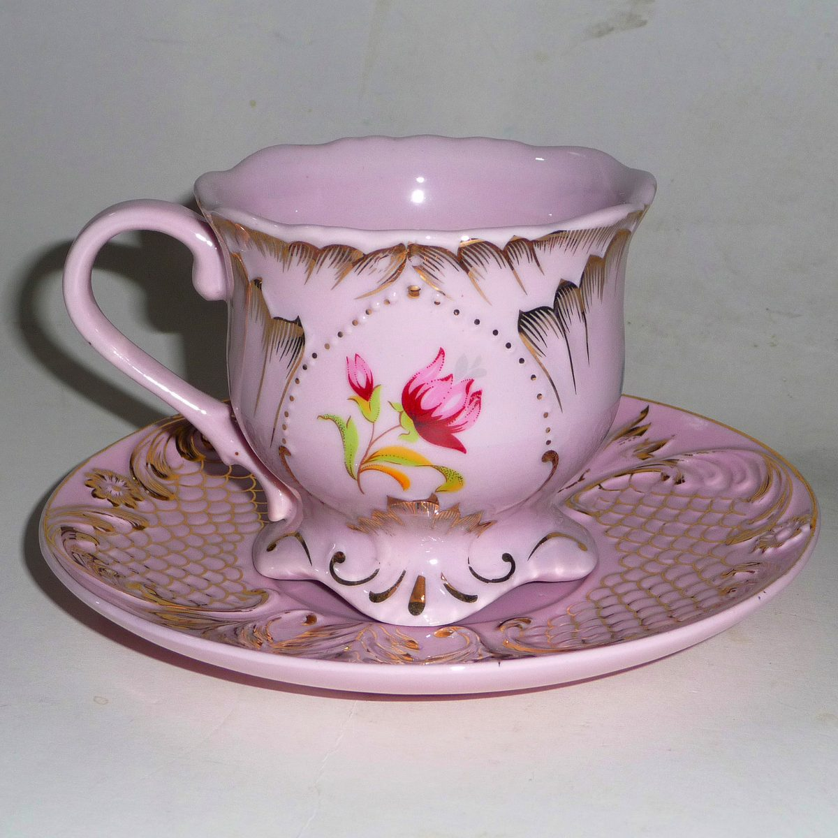 Taza c platillo t porcelana checa a os 70 re edicion for Tazas porcelana