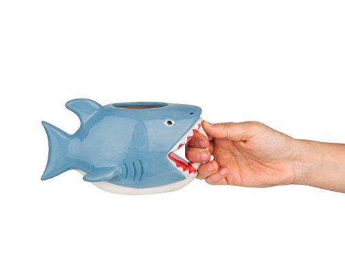taza de café bigmouth incbite me shark con taza de cerámica