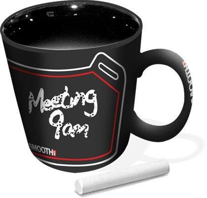 taza de café smooth industries pizarra del pit negro/rojo