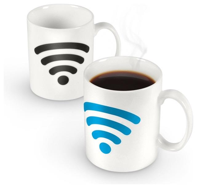 Taza de ceramica dise o wifi termica cambia de color - Taza termica para cafe ...