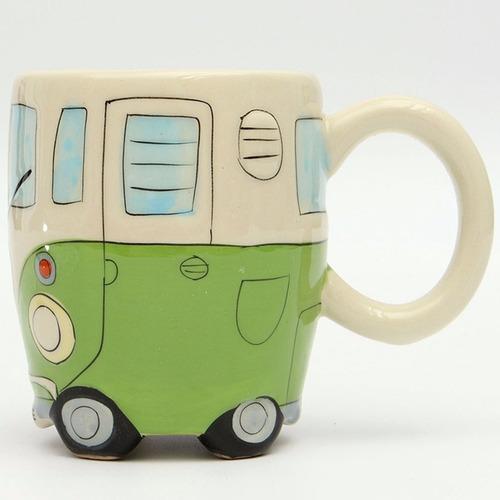 taza de ceramica forma combi retro volkswagen h1302