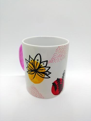 taza de ceramica pintada a mano