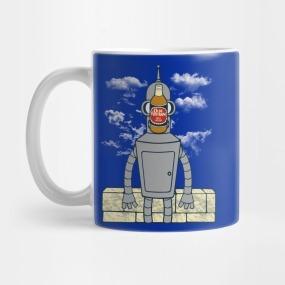 taza de ceramica tematica futurama coleccion b 17