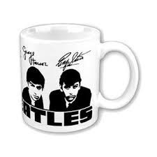 taza de coleccion beatles,iron maiden, lennon, doors etc