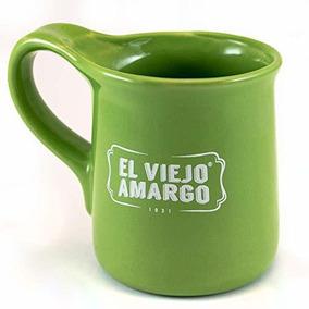 Taza De El Viejo Amargo Con Frase Mañanero Verde