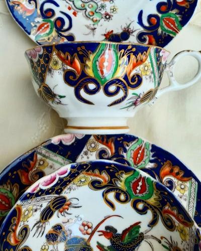 taza de te con platillo de colección!  del siglo xix c/u 890
