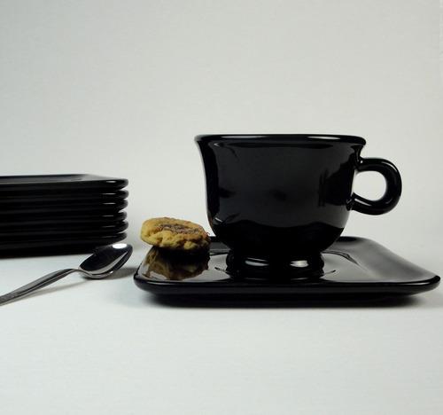 taza de té con plato cuadrado, vajilla sen-sen vajilla