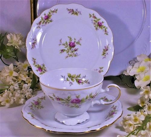 taza de té con platos porcelana florencia precio x trio