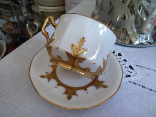 taza de té de porcelana limoges france