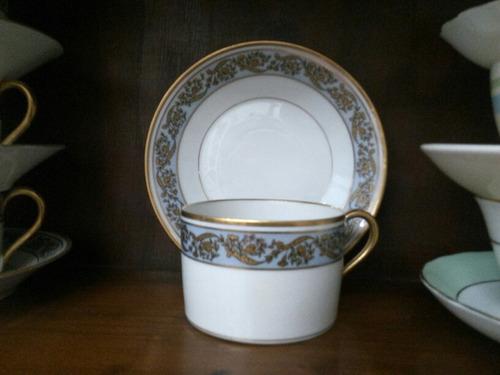 taza de té porcelana limoges france