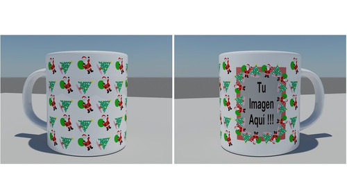 taza decorada personalizada navideña 2