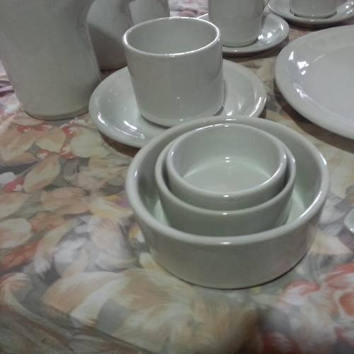 taza desayuno c/plato porcelana no verbano x 18