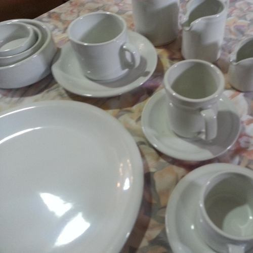 taza desayuno c/plato porcelana no verbano x 3